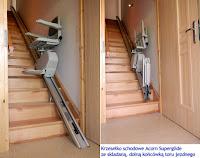 Krzesełko schodowe ze składaną szyną na dole