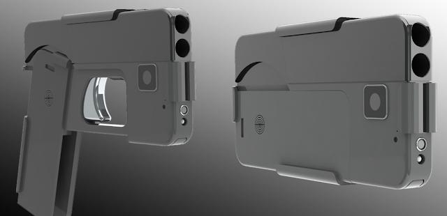Pistol Ini Didesain Mirip Smartphone