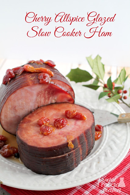 This easy to make Cherry Allspice Glazed Slow Cooker Ham is slow cooked all day in a simple & flavorful glaze.