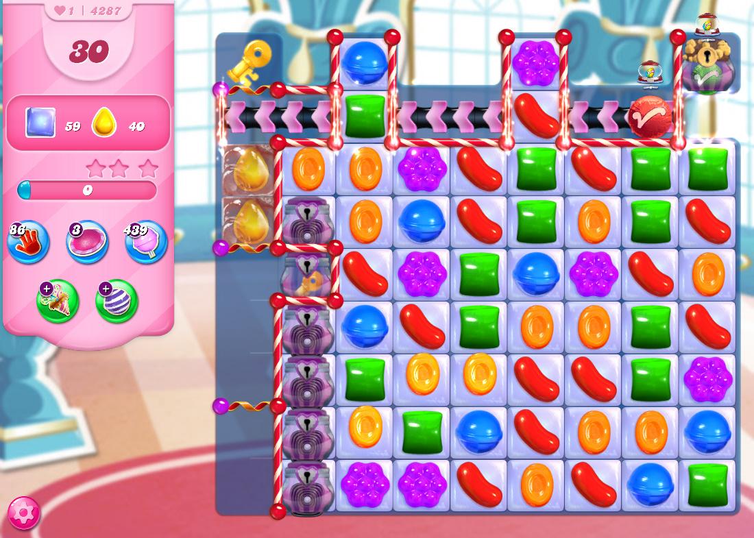Candy Crush Saga level 4287