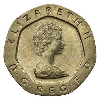 British Coins 20 Pence 1982 Queen Elizabeth II