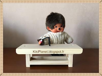Etabli de menuisier en bois fait main pour Kiki ou Monchhichi, handmade, meuble miniature, outil