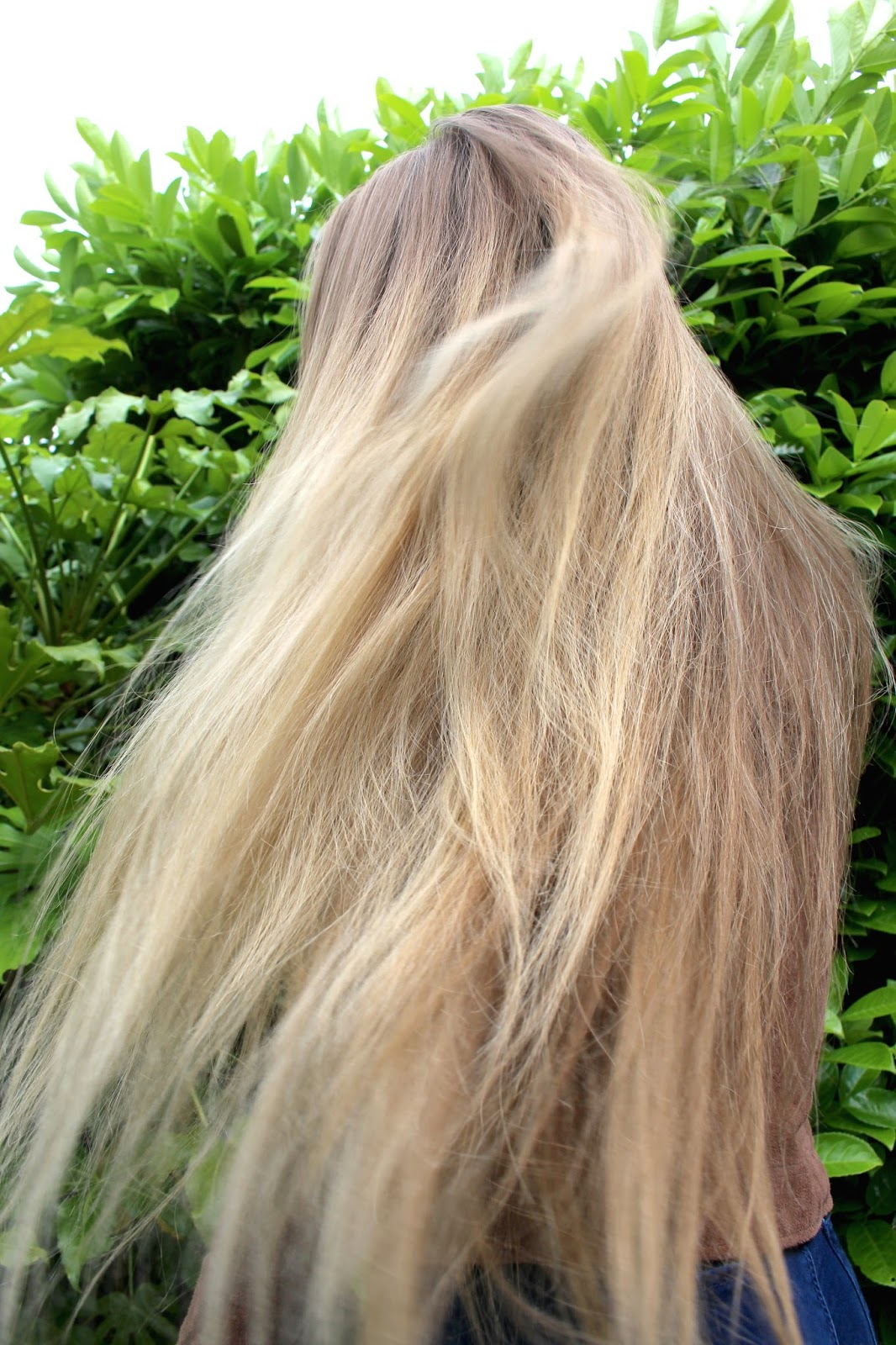 Very long blonde hair