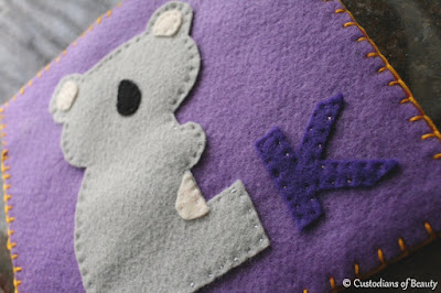 ABC Animal Quiet Book Pages | K for Koala | by CustodiansofBeauty.blogspot.com