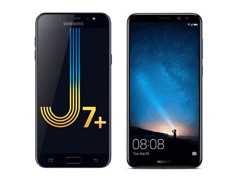Samsung in addition to Huawei are educate to brand their novel midrangers official for the Philippine marketplace Samsung Milky Way J7+ Vs Huawei Nova 2i - Specs Comparison