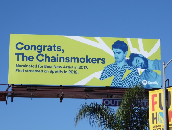 Congrats The Chainsmokers Spotify billboard