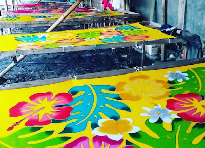 Sarung Pantai Bali di Produksi Desa Beng, Gianyar