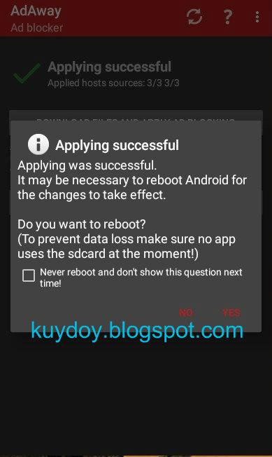 menghilangkan iklan di android mudah