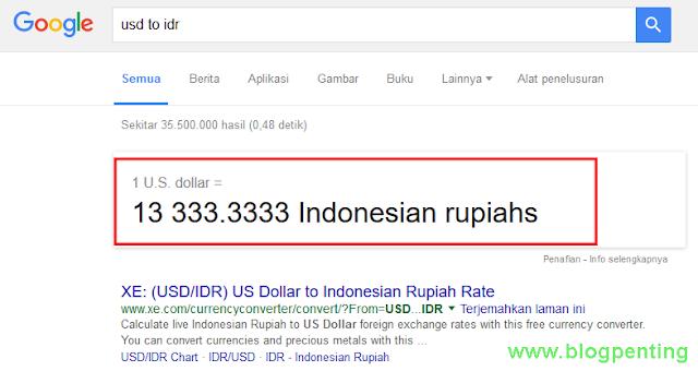 Cek Kurs Dollar ke Rupiah