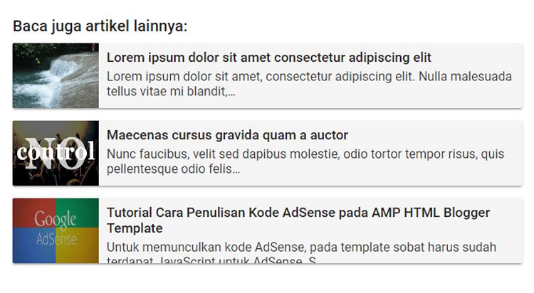 Membuat Related Post Valid AMP
