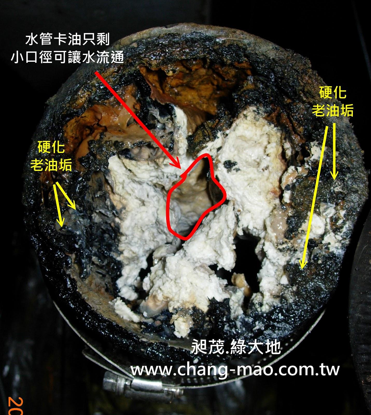 排水管油垢