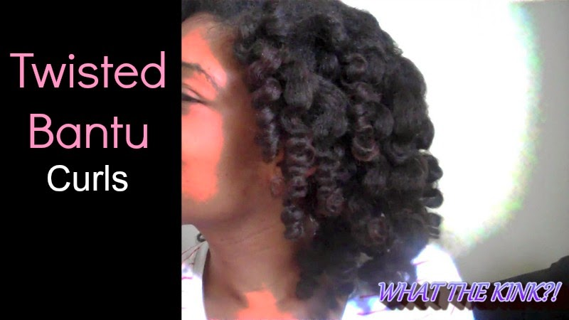 Heatless Twisted Bantu Knot  Curls