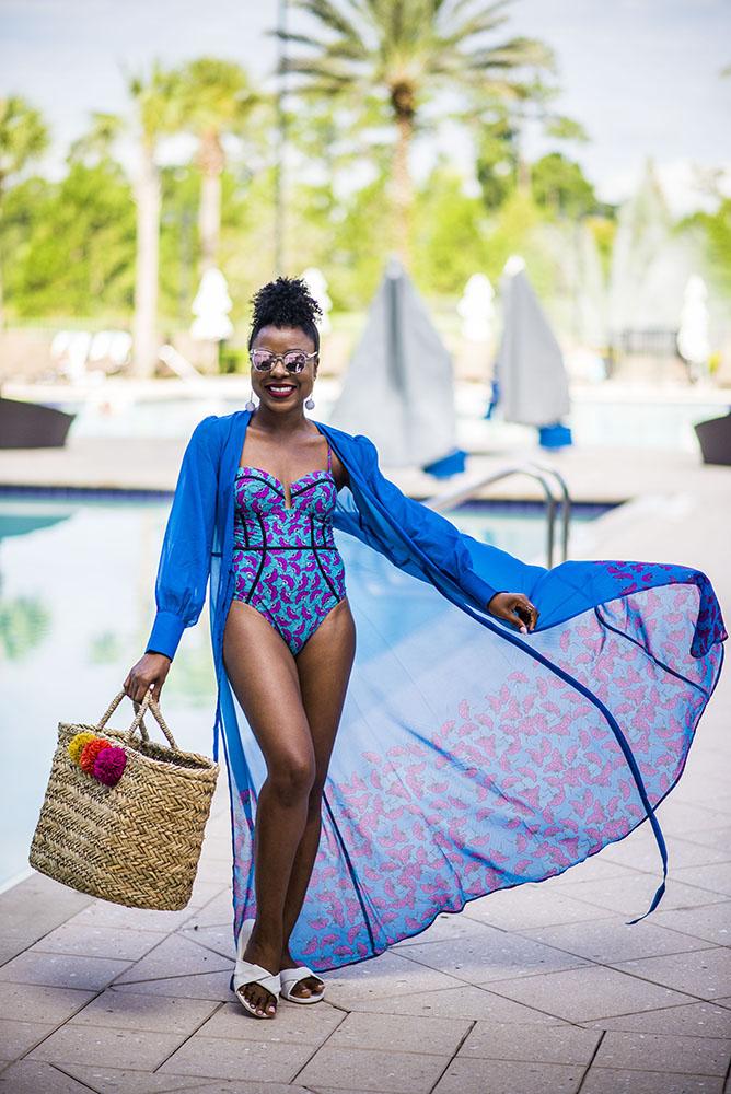 Ankara swimsuit by Yetunde Sarumi