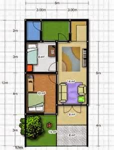 Contoh cara membuat denah rumah ukuran 7x12