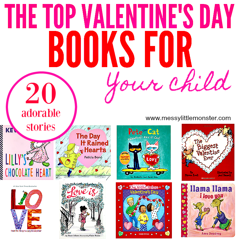 Valentine's day inspired books for kids. 20 love and kindness themed stories for young children. Great for toddlers and preschoolers.