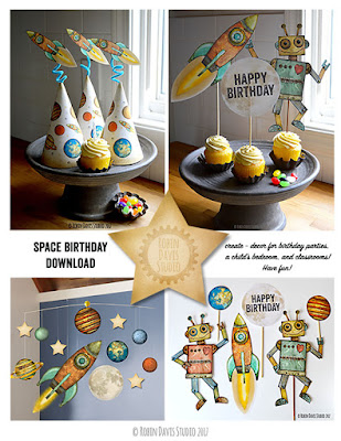Space Birthday Printable by Robin Davis Studio
