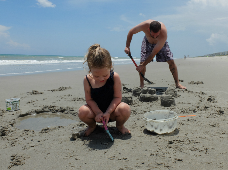 Sweet Turtle Soup - Spring Bucket List: build a sandcastle