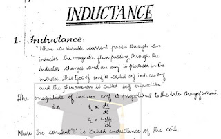 BSc Physics Inductance Notes pdf download
