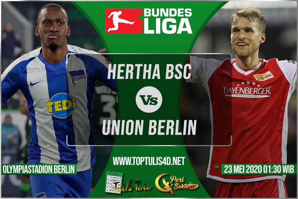 Prediksi Hertha BSC vs Union Berlin 23 Mei 2020