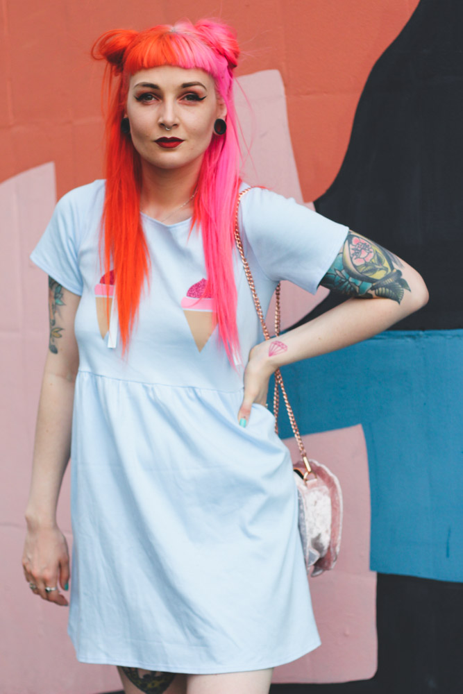 Alternative fashion blogger foxxtailz styles Tallulahs threads dress