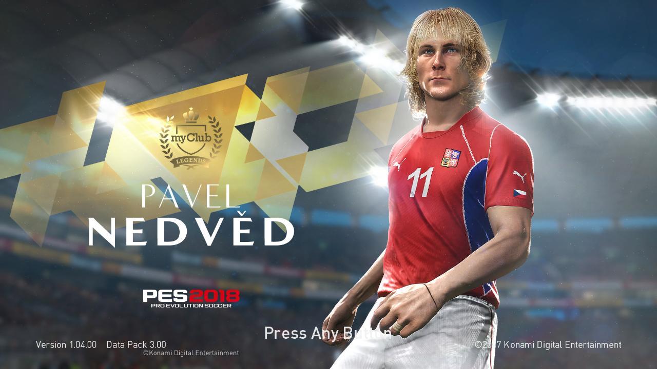 Pavel Nedvěd Startscreen PES 2018 by ABW