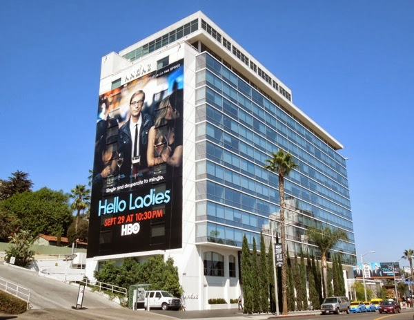 Giant Hello Ladies billboard Sunset Strip