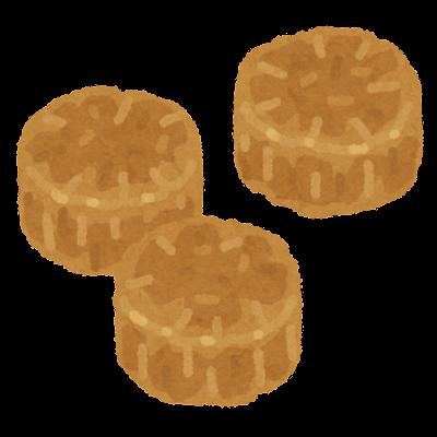 ホタテの貝柱のイラスト(乾燥)