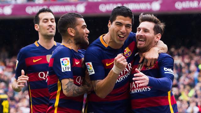 Barcelona Akhirnya Pesta Juara Liga Spanyol 2015/2016 Dikandang Granada