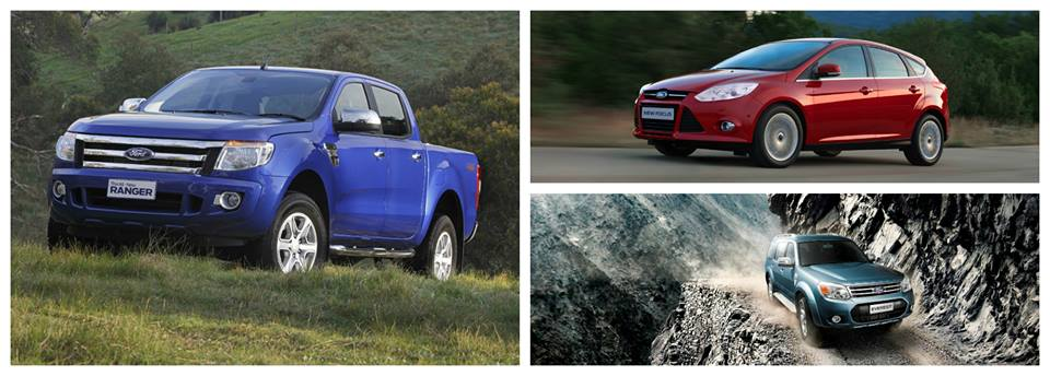 Ford Everest, Focus and Ranger