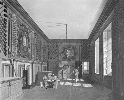 Guard Chamber, St James's Palace  from The History of he Royal Residences by WH Pyne (1819)