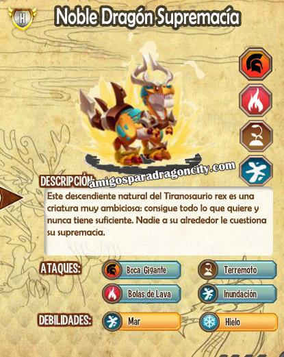 imagen de las caracteristicas del noble dragon supremacia