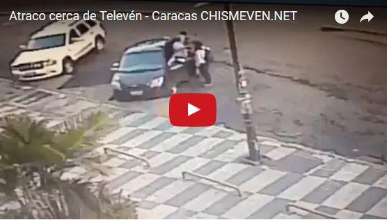 Así le robaron el carro cerca de la sede de Televén frente al centro Aloa