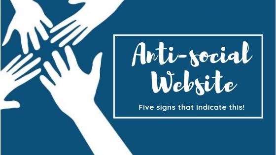 Website Is Anti-social