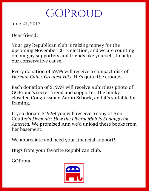 GOProud turns to Gay Republicans Begging For Money And Financial Support