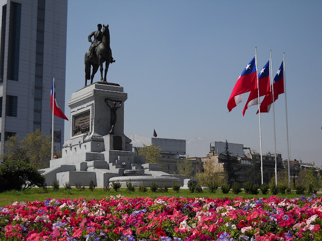 Monument to General Baquedano in Santiago, Chile.