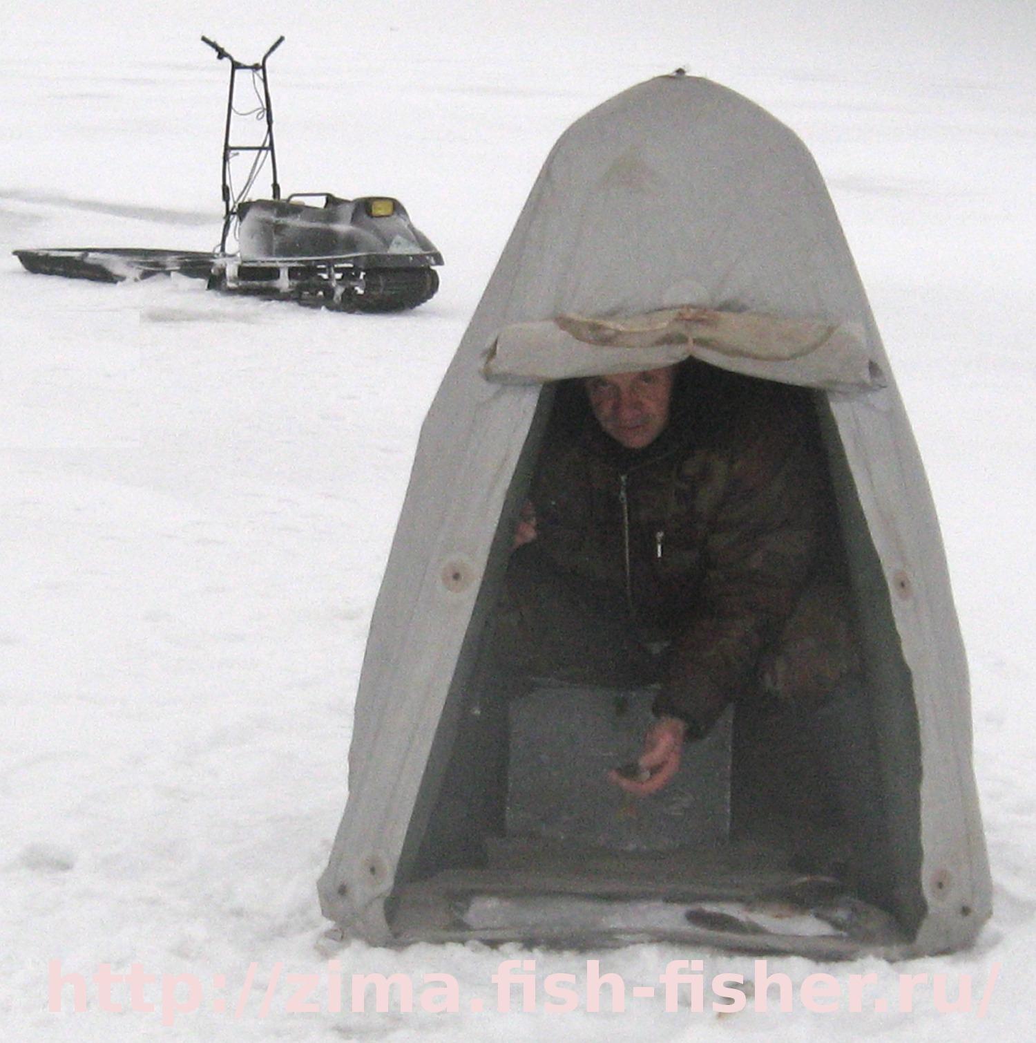 палатка для зимней рыбалки желтая