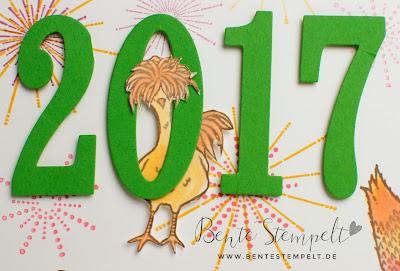 Stampin Up das Gelbe vom Ei Hühner Chicken Aquapainter Viel Gluck Viel Glück SAB 2017 Saleabration