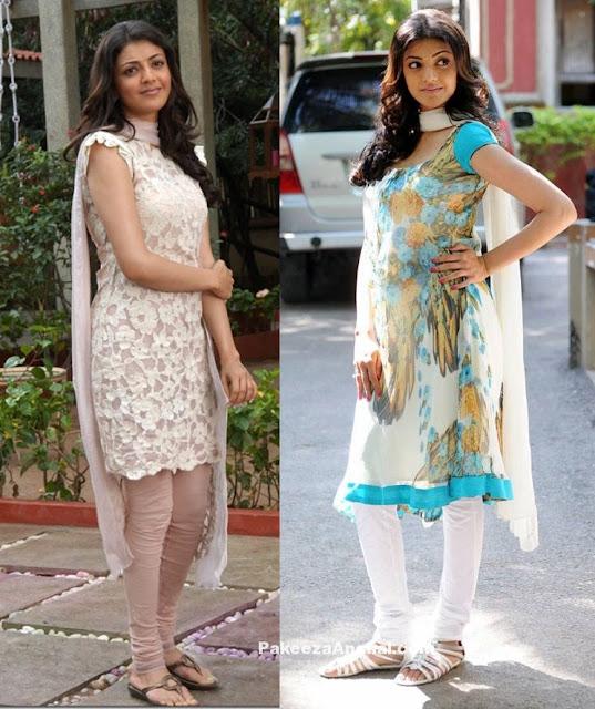 Kajal Agarwal in Churidar Dresses, Tight Chudidaar Salwar Kameez