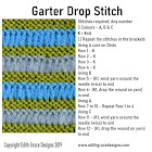 Garter Drop Knitting Stitch