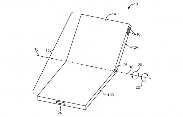 "Apple has filed a patent that describes a foldable iPhone with a flexible metal-backed OLED display capable of being folded in half which is entitled as ""Flexible display devices""."