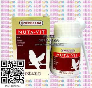 Muta-Vit, vitamin spesial untuk bulu burung, mempercantik, menguatkan dan membantu menyelesaikan mabung burung.