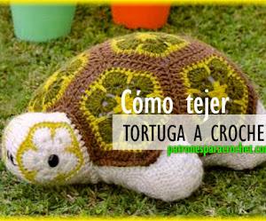 Cómo Tejer Tortuga con Flores Africanas Crochet / Paso a paso