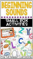 Easy to prep activity where students will begin practicing beginning sounds in no time! I love that it also sneaks in fine motor skills as well!
