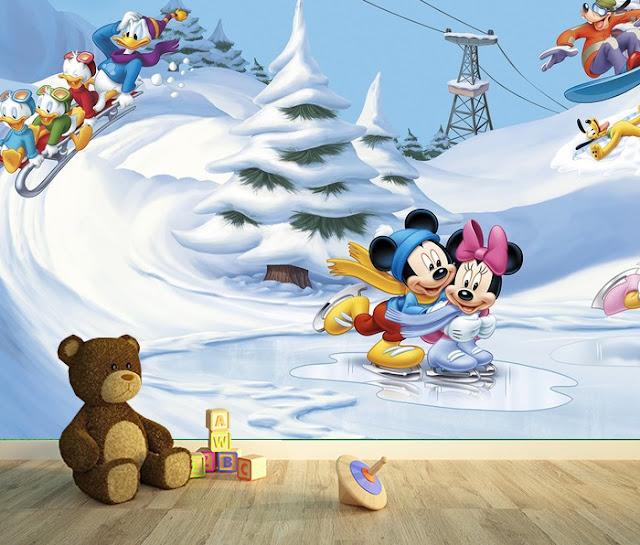 Mikki Hiiri Tapetti Disney Valokuvatapetti Lapsia Lasten Tapetti