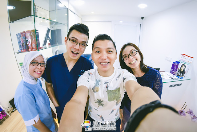 #TCSelfie with Dr. Melvin Sia and the team after the dental treatment