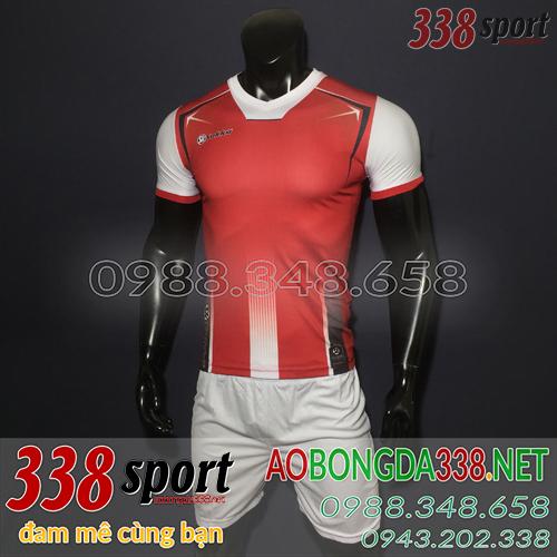 Áo Bóng Đá Không Logo Đẹp Sakka Ranger Đỏ Trắng