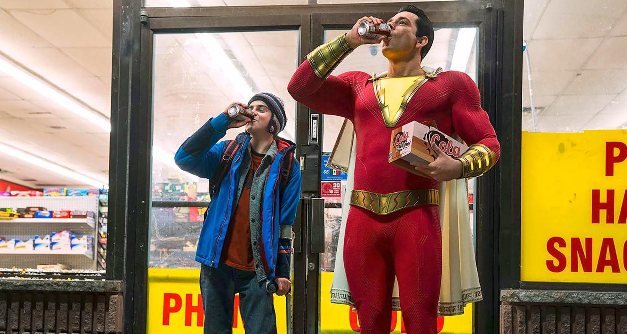 Shazam! Zachary Levi as the superhero