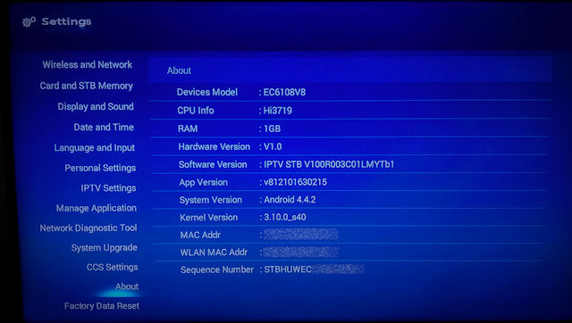 Upgraded my UniFi HyppTV set top box (STB) from Huawei