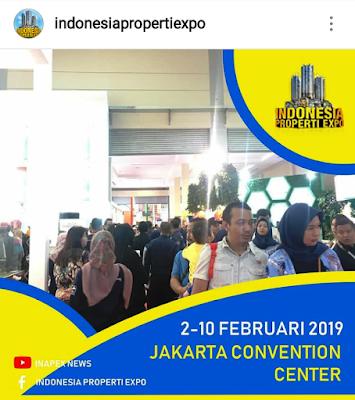 suasana pameran properti di Jakarta Convention Center