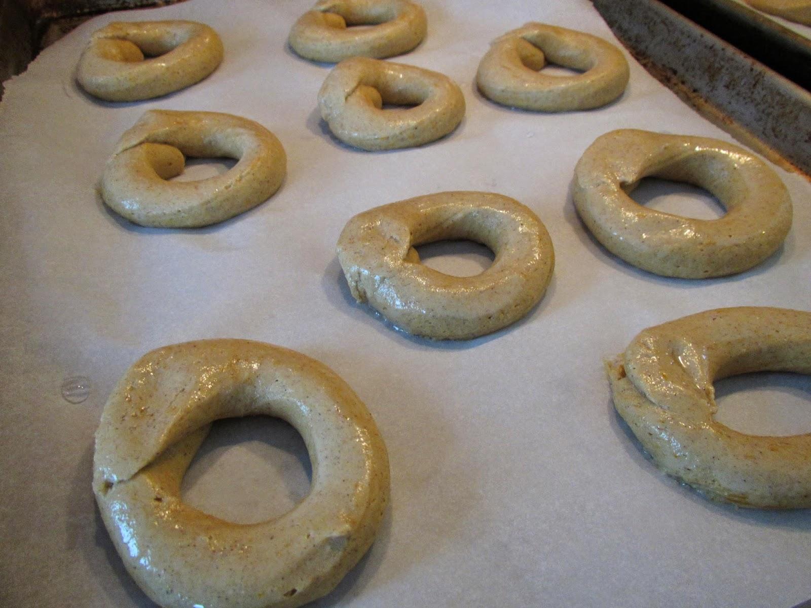Gluten Free Pumpkin Bagels before rising